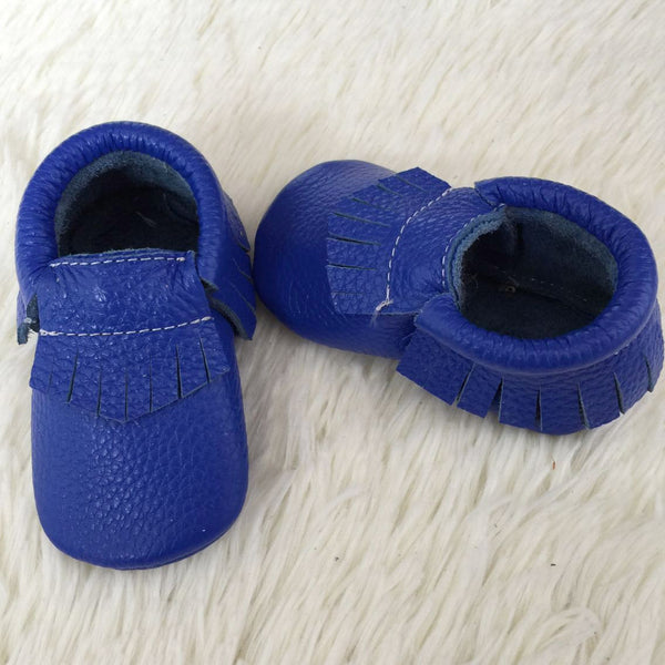 "Our Little Moccs ""Jelly Bean"" Leather Moccasins - LAST TWO"