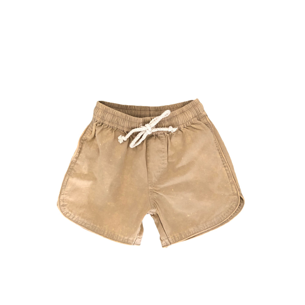 Tully and the Chief | Bodhi Shorts - Stonewashed Caramel