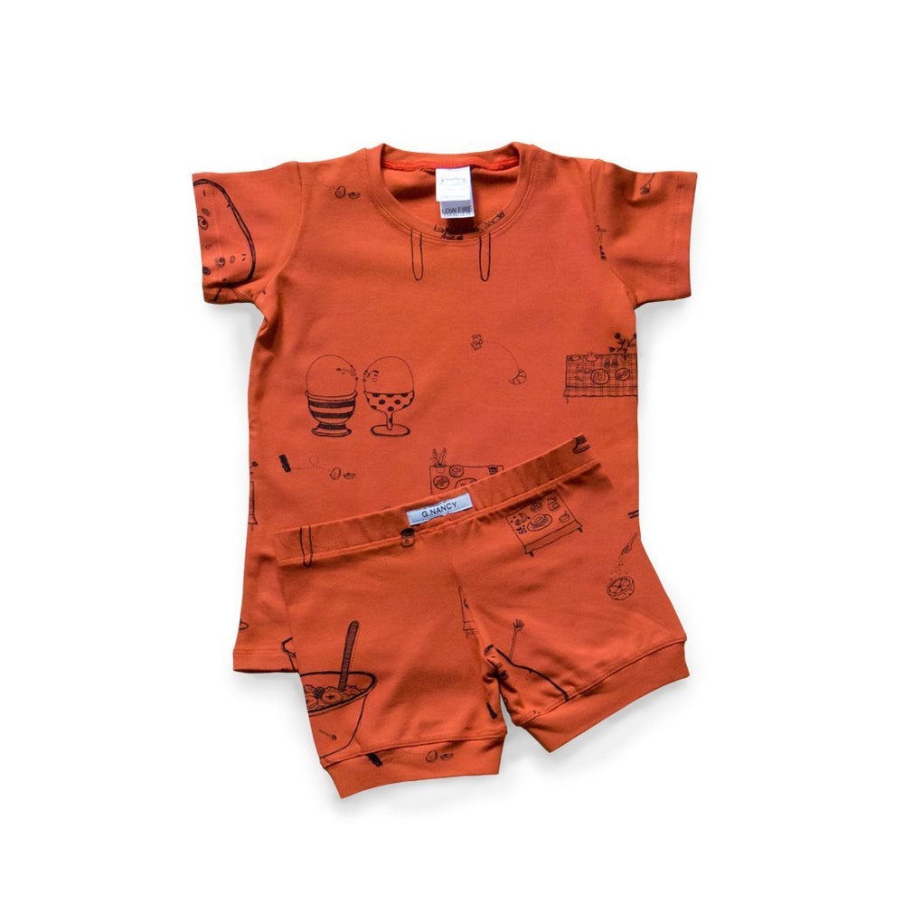 G.Nancy | Yolk Breakfast Shortie Pyjama Set