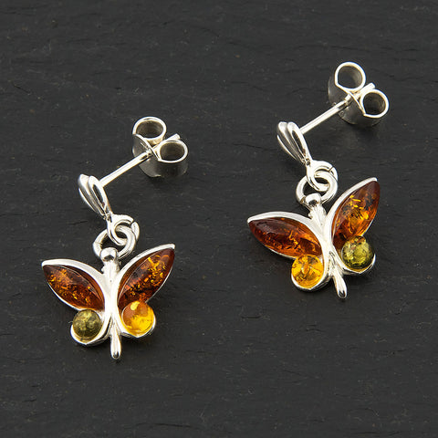Amber Butterfly Earrings