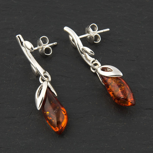 Amber Leaf Detail Earrings