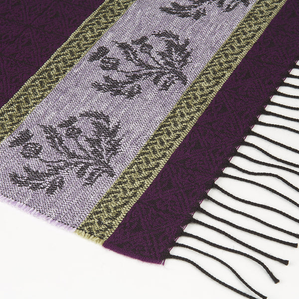 Celtic Purple Thistle Scarf
