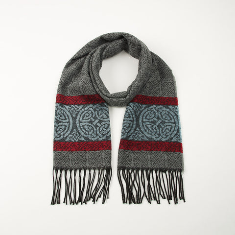 Celtic Nordic Grey Scarf