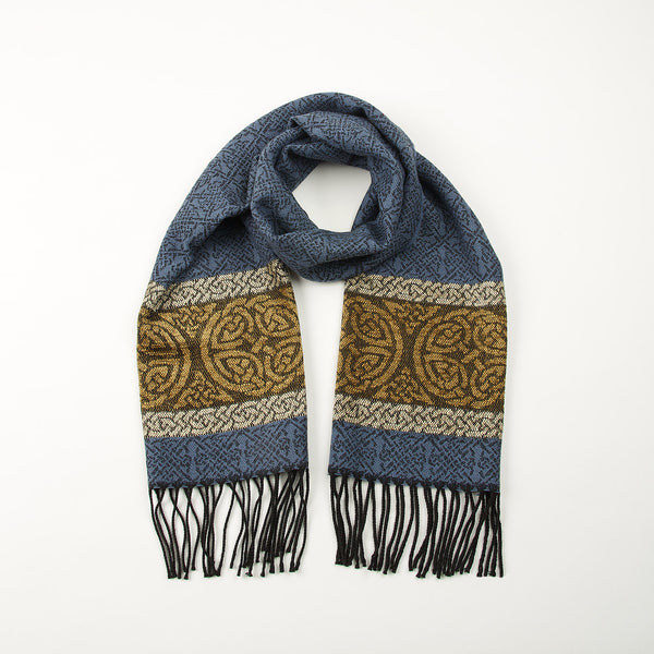 Celtic Nordic Blue Scarf