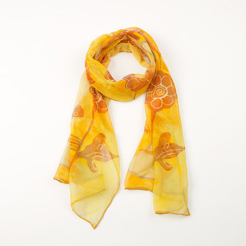 Ming Dynasty Scarf - Yellow Songbird