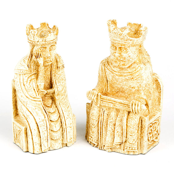 Lewis Chessmen King and Queen Bookends