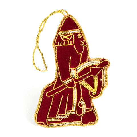 Lewis Chessmen Maroon Knight Decoration