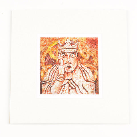 Lewis Chessmen Queen Mounted Print