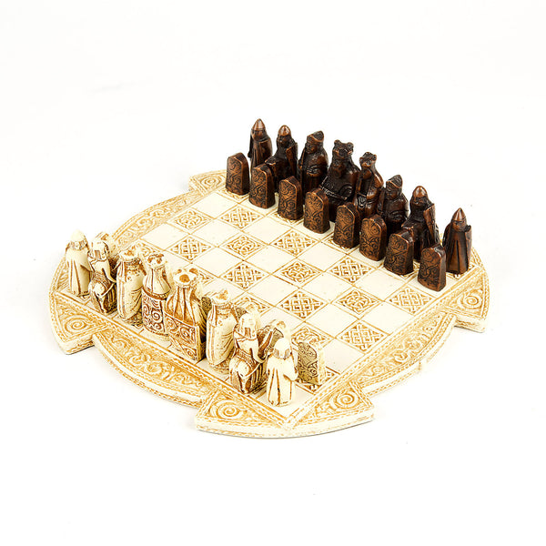 Lewis Chess Set - Small - Cream