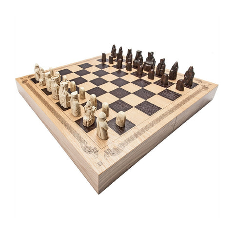 Lewis Chess Set - Deluxe Edition with Book
