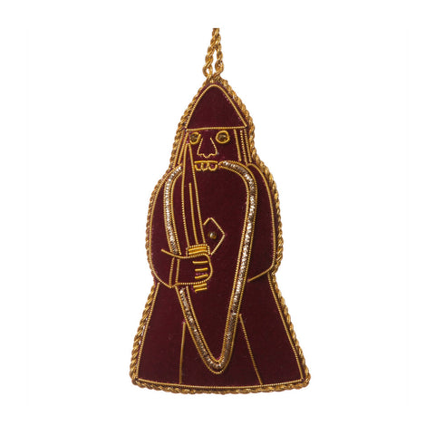 Lewis Chessmen Maroon Berserker Decoration