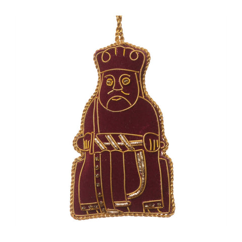 Lewis Chessmen Maroon King Decoration