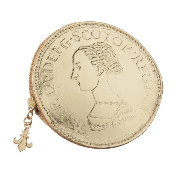 Mary Queen of Scots Leather Coin Purse - Gold