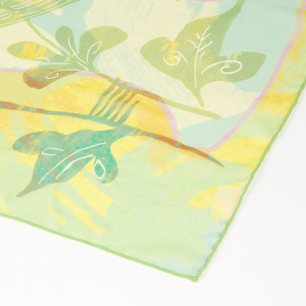 Ming Dynasty Scarf - Green Songbird