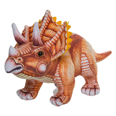 Triceratops printed soft toy