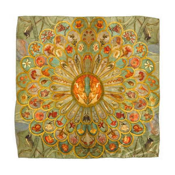 Phoebe Anna Traquair Square Silk Scarf