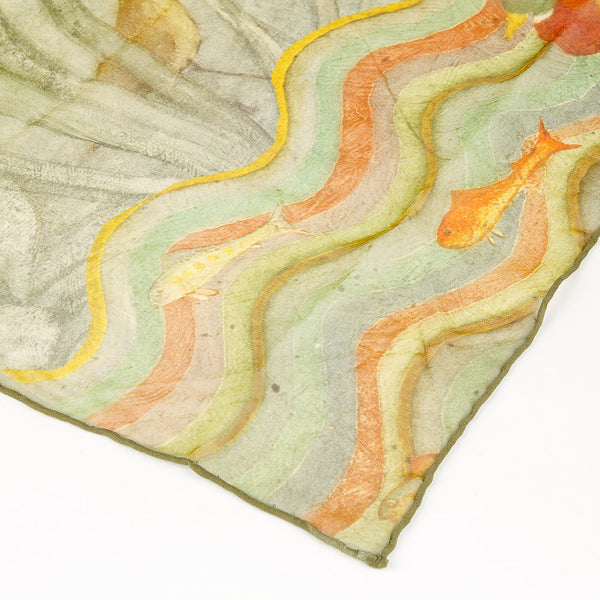 Phoebe Anna Traquair Long Silk Georgette Scarf