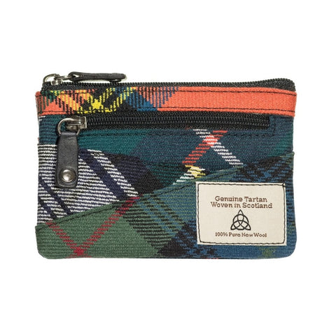 Quirky Tartan coin purse keychain