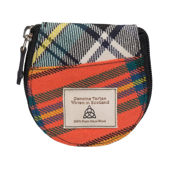 Quirky Tartan round coin purse