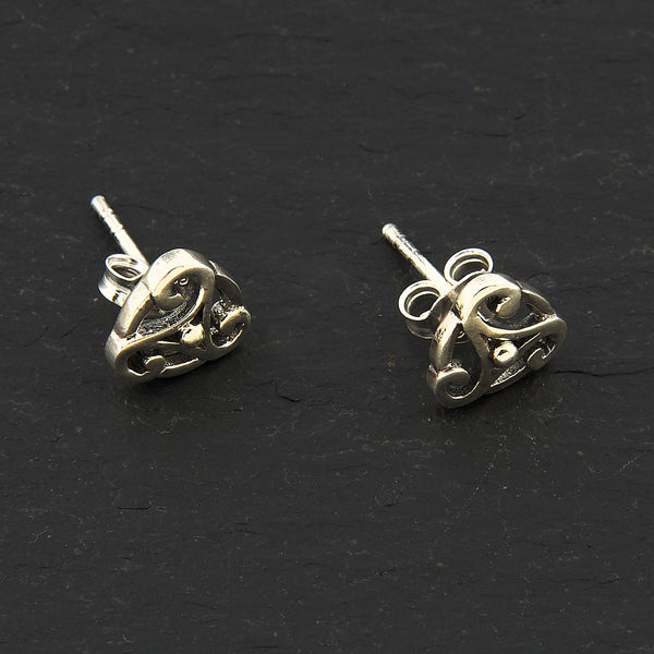 Silver Celtic Triskele Earrings