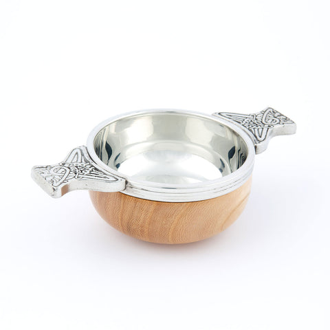 Wood and Pewter Quaich - Small