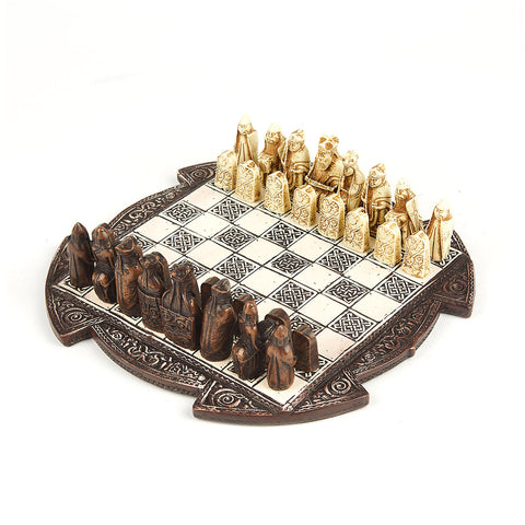 Small Lewis Chess Set - Brown