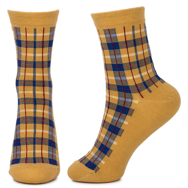 Tartan Socks Yellow