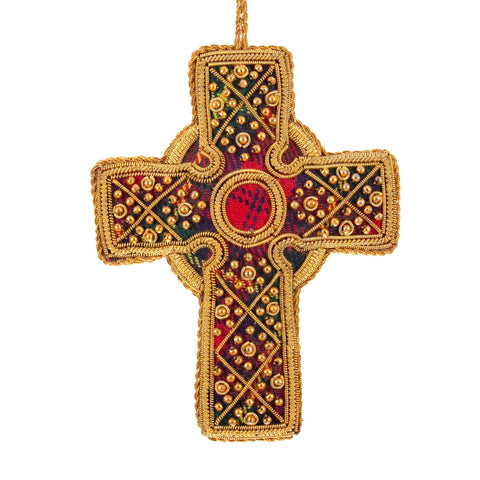 Tartan Celtic Cross Decoration