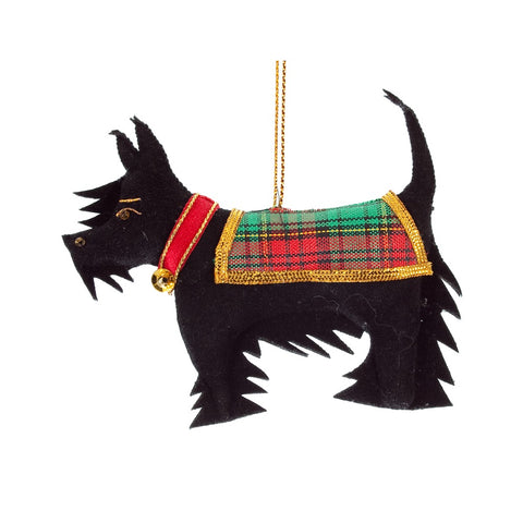Christmas Scottie Dog Decoration