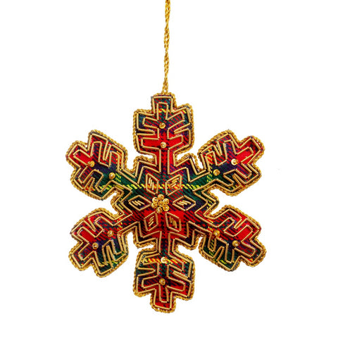 Tartan Snowflake Decoration