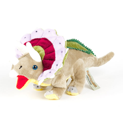 Brown Triceratops Soft Toy