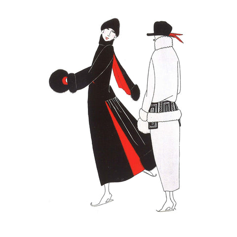 Winter Fashions Greetings Card