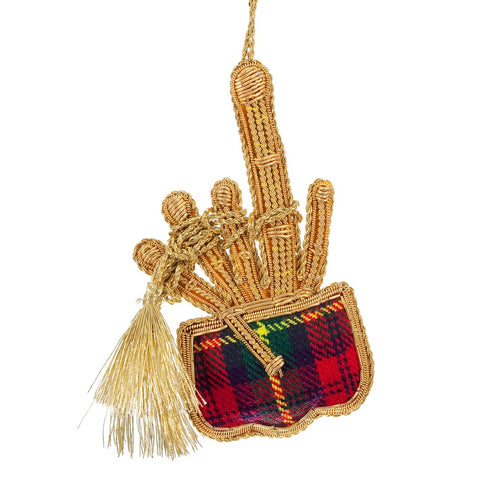 Tartan Bagpipes Decoration
