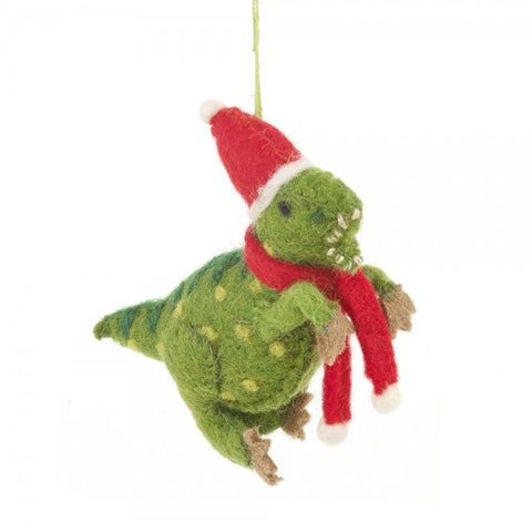 Christmas Dino Felt Decoration