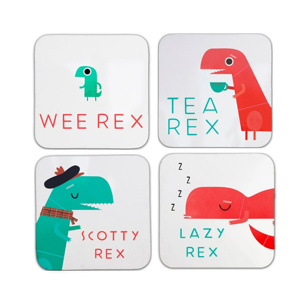 Dino Family Coasters Pack of 4