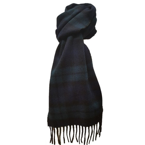 Kinloch Anderson Black Watch Tartan Lambswool Scarf