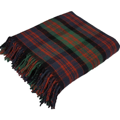 Kinloch Anderson Ancient MacDonald Tartan New Wool Throw
