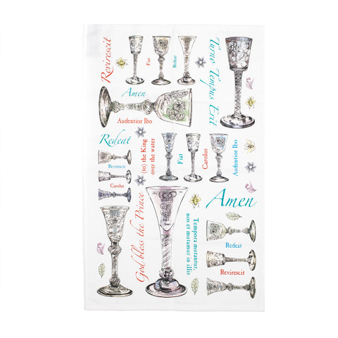 Jacobite Glassware Tea Towel