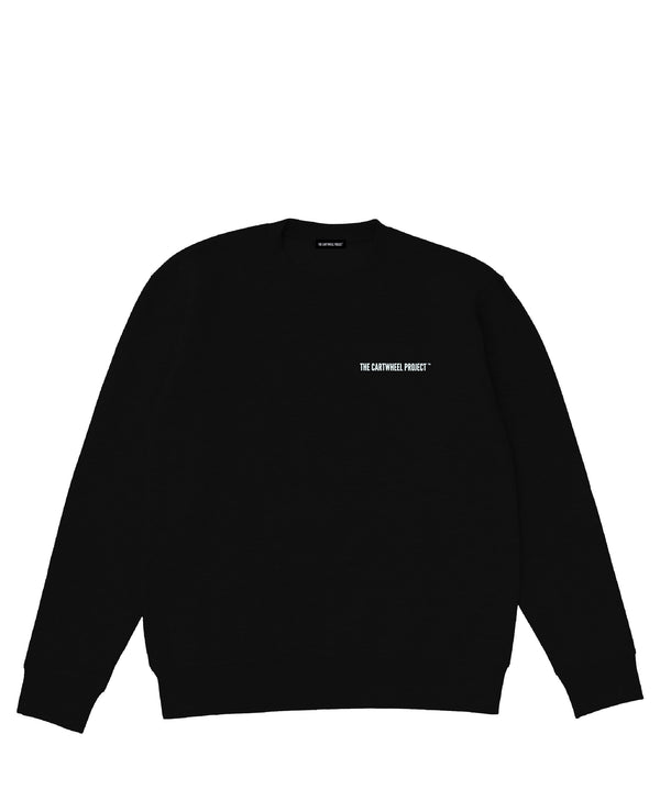 Road Sweatshirt Black - The Cartwheel Project