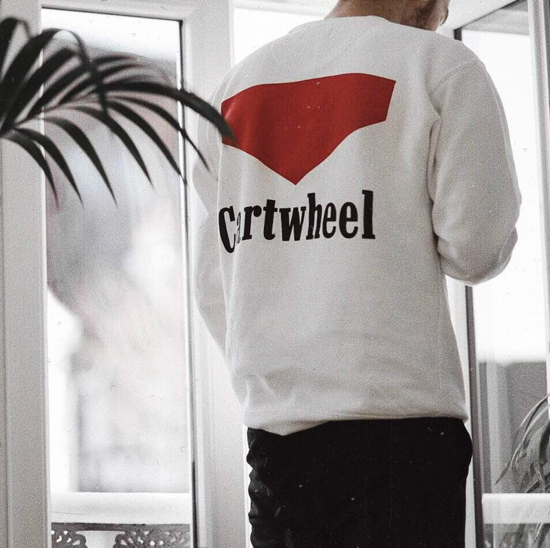 Smoker Sweatshirt White - The Cartwheel Project