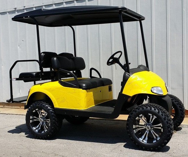 E-Z-GO RXV 48V REFURB (YELLOW MARBLE - LIFTED)