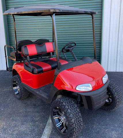 RED (LIFTED) EZGO RXV 48V GOLF CART - Call Holly 706-910-6055