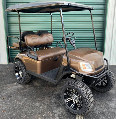 MOCHA BROWN (LIFTED) EZGO TXT S4 48V GOLF CART - Call Holly 706-910-6055