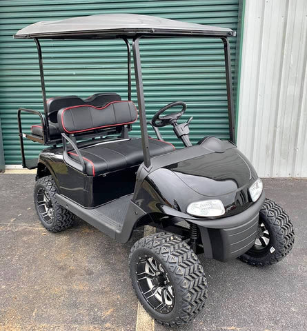 BLACK (LIFTED) EZGO RXV 48V GOLF CART - Call Holly 706-910-6055