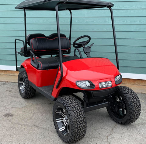RED (LIFTED) EZGO TXT 48V GOLF CART - Call Holly 706-910-6055