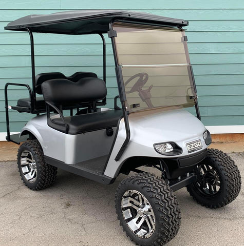 SILVER (LIFTED) EZGO TXT 48V GOLF CART - Call Holly 706-910-6055
