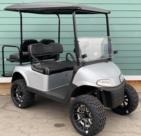 SILVER (LIFTED) EZGO RXV 48V GOLF CART - Call Holly 706-910-6055