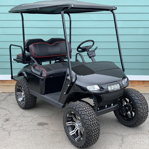 BLACK (LIFTED) EZGO TXT 48V GOLF CART - Call Holly 706-910-6055