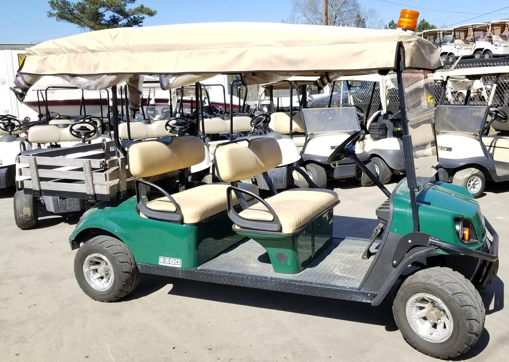2015 EZGO TXT 48V ELECTRIC SHUTTLE 4 CAR (Sea Island)