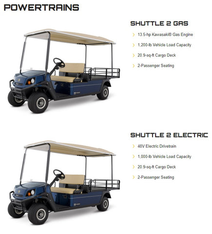 CUSHMAN SHUTTLE 2 (GAS/ELECTRIC)